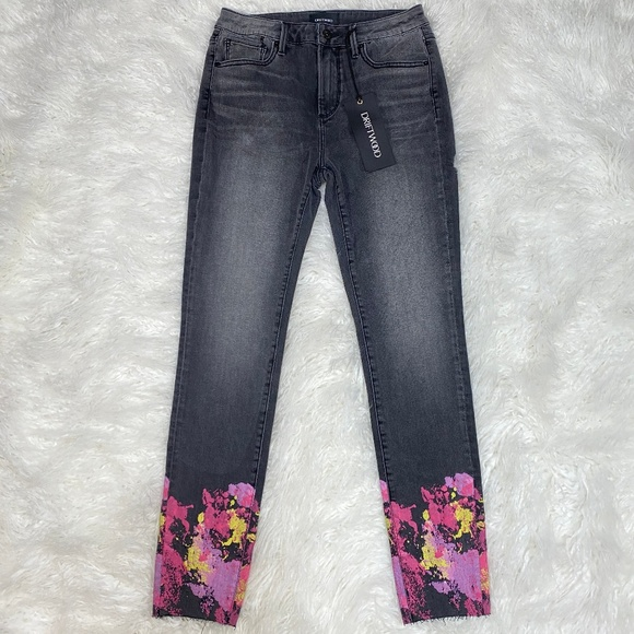 DRIFTWOOD Denim - DRIFTWOOD JACKIE HIGH RISE PAINTED CUFF JEANS SIZE